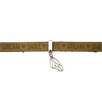 Damen - Armband - Schmetterling - Flügel - 925 Silber - WISHES - Braun Sand - Magnetverschluss