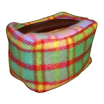 Spring Check Rectangular Pure New Wool Door Stop