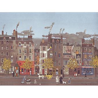 Cafe Parisienne Poster Print by Michel Delacroix (18 x 13)