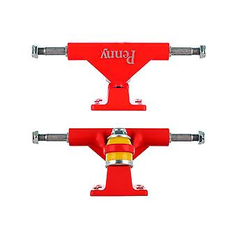 Penny Red Solid Series - 4 Inch Pair of Cruiser Trucks