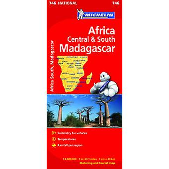 Africa Central and South Map by Michelin