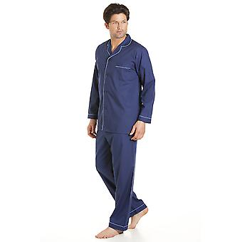Haigman Mens einfach Pflege Polycotton lange Pyjama Loungewear