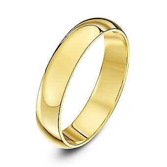 Star Wedding Rings 9ct Yellow Gold Extra Heavy D Shape 4mm Wedding Ring
