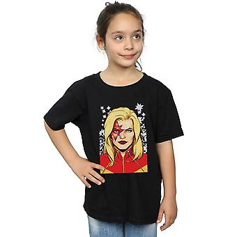Marvel Girls Captain Marvel Glam T-Shirt