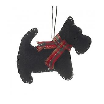 Felt Scottie Dog Christmas Decoration