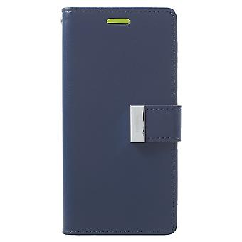 Mercure GOOSPERY Rich Diary à Samsung Galaxy S9-bleu