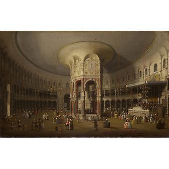 Interno della rotonda di Ranelagh,Canaletto,46x75.5cm