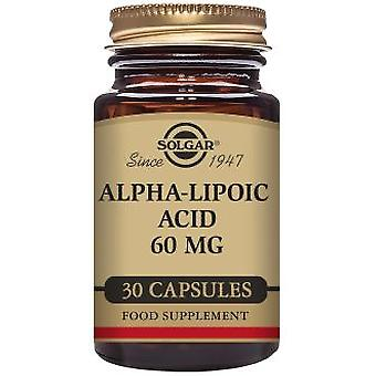 Solgar Alpha Lipoic Acid 60 mg 30 Vegicaps (Sport , Athlete's health , Anti oxidants)