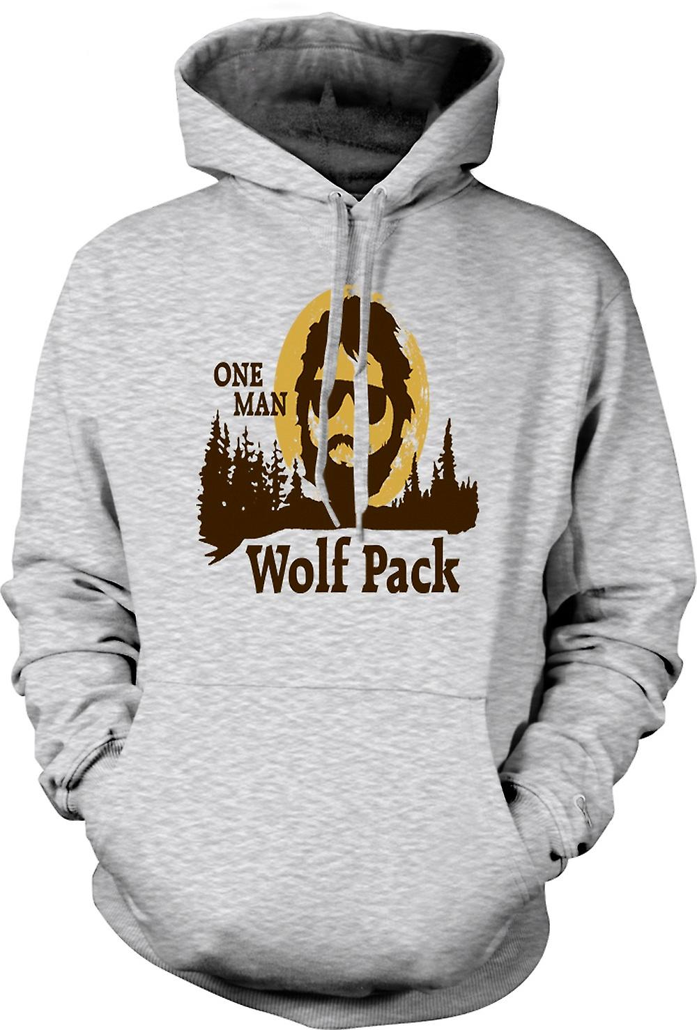 Mens Hoodie - The Hangover One Man Wolf Pack - Funny