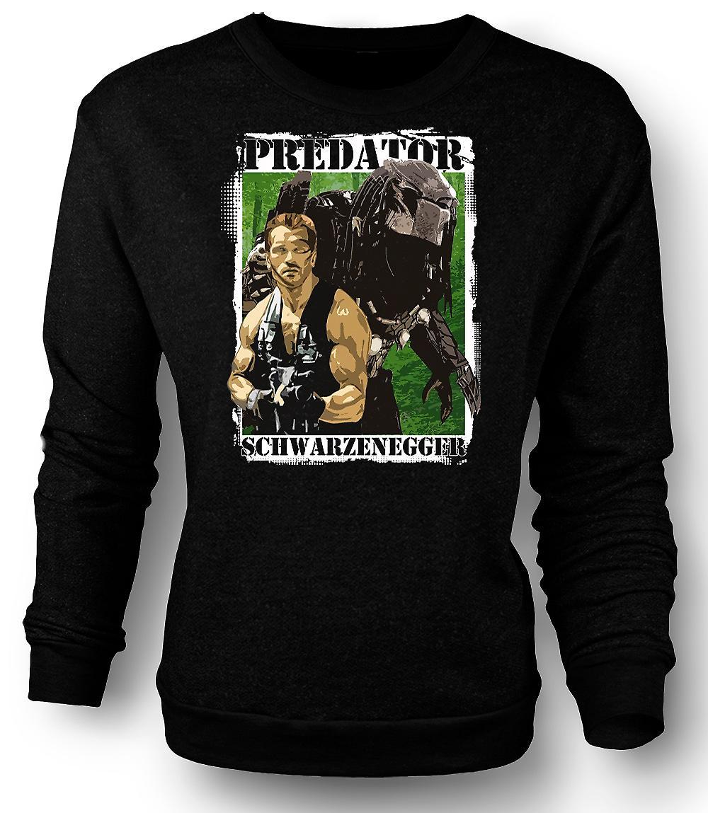 Mens Sweatshirt Predator Alien - Schwarzenegger