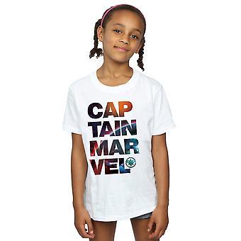 Marvel Captain Marvel Raum Text T-Shirt für Mädchen