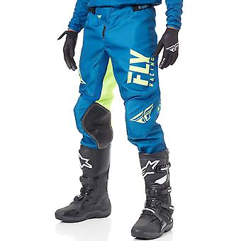 Fly Racing Navy-Hi-Viz 2019 Kinetic Shield MX Pant