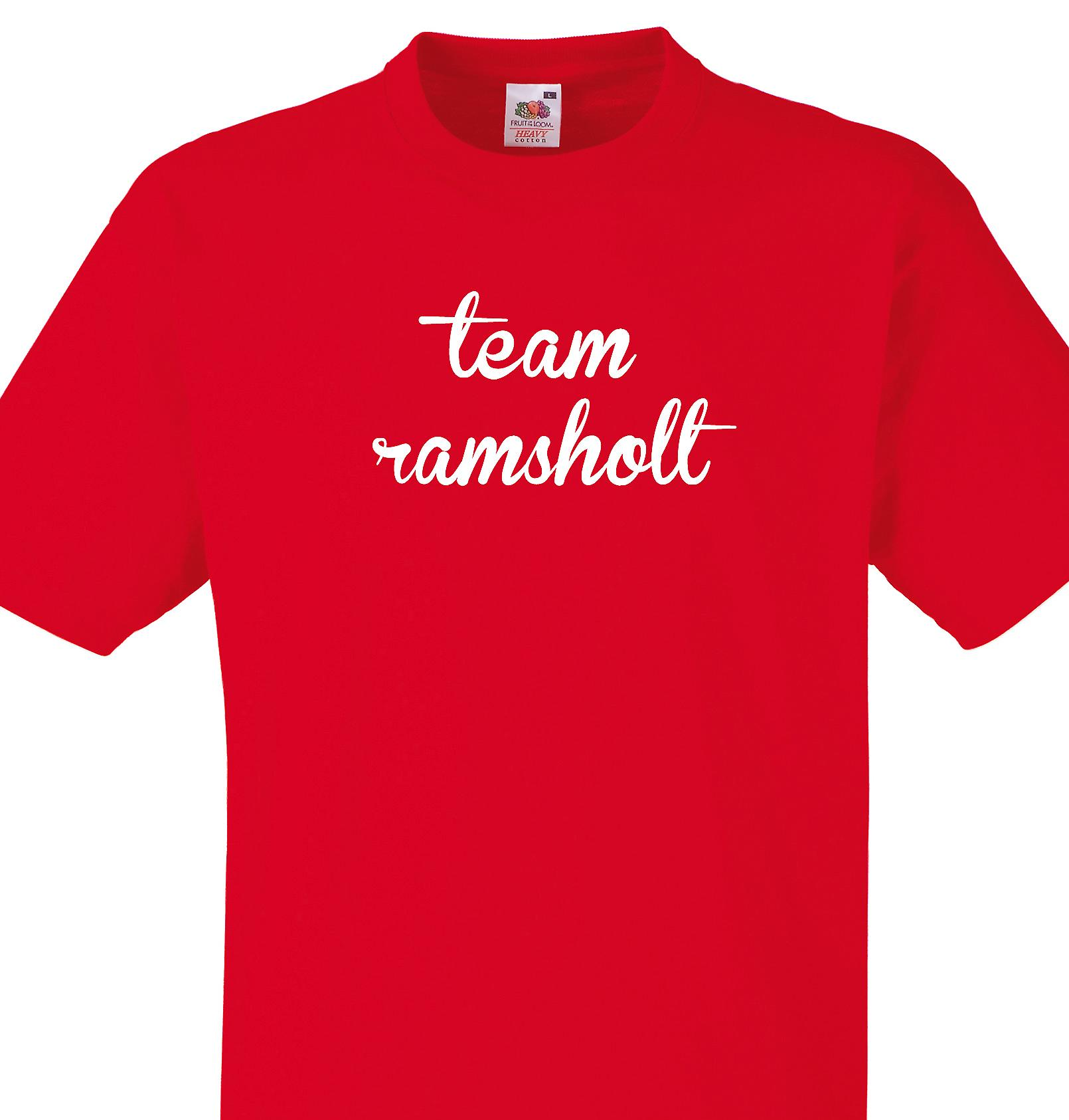 Team Ramsholt Red T shirt