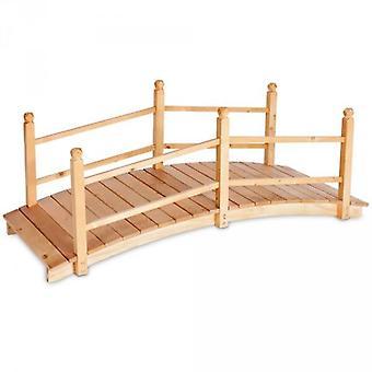 Pont de jardin bois passerelle droit 140 cm 2208003
