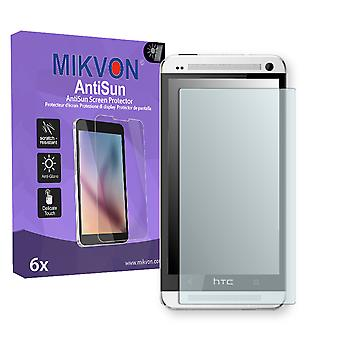 HTC M7 Screen Protector - Mikvon AntiSun (Retail Package with accessories)