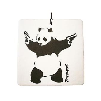 Banksy Panda con armas coche ambientador