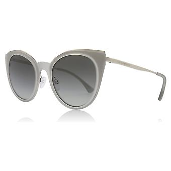 Emporio Armani EA2063 301511 Silver EA2063 Cats Eyes Sunglasses Lens Category 2 Size 52mm