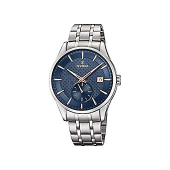 Festina Mens Quartz analog watch with stainless steel band F20276/2