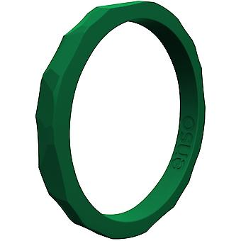 Enso Rings Hammered Stackables Series Silicone Ring - Emerald