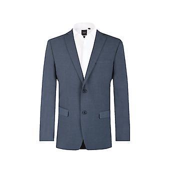 دوبيل رجالي ميسيسيبي الأزرق 2 قطعة دعوى مصممة تناسب الشق طية صدر السترة