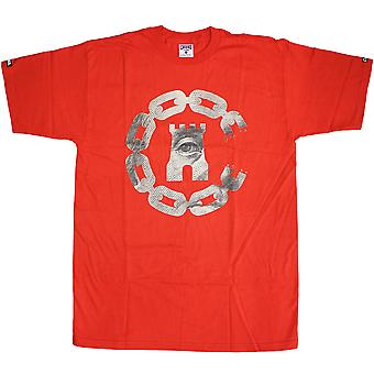 Crooks & Castles Currency Chain C T-Shirt True Red