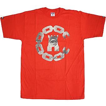 Ladrones y castillos moneda cadena C camiseta True Red