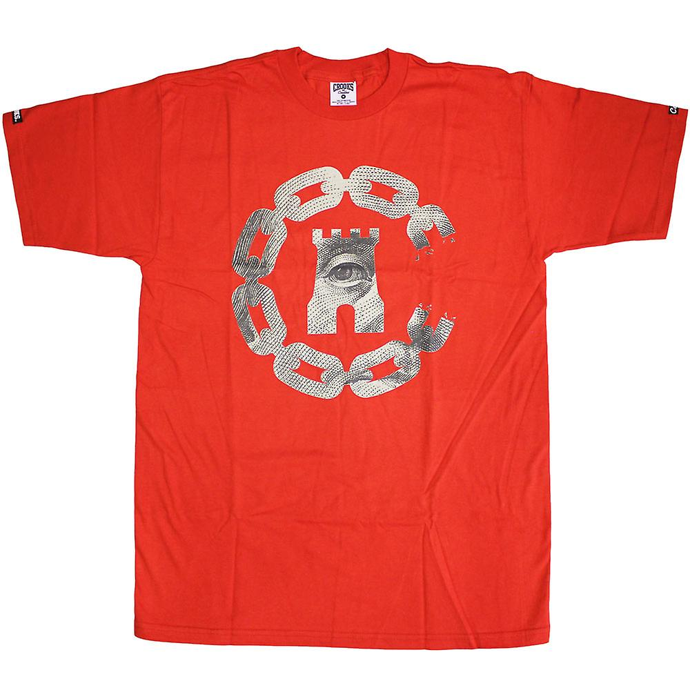Crooks & Castles chaîne de devises C T-shirt True Red
