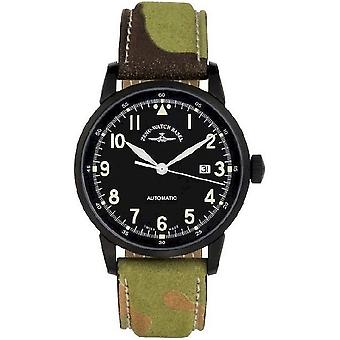Zeno-watch montre Magellano pilote de Navigator voiture noire 6069N-bk-a1
