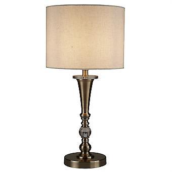 Bębna 1 światła mosiądz Lampa stołowa lnu - reflektor 1011AB