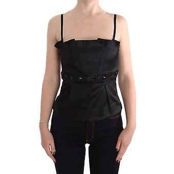 Exte Black Tank Party Evening Top Blouse -- SIG3809456