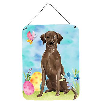Chocolate Labrador Easter Wall or Door Hanging Prints