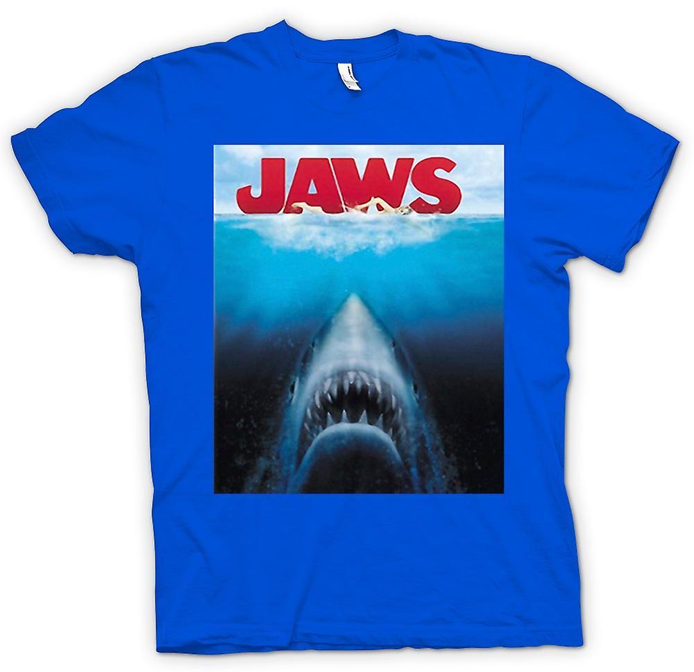 बच्चों टी शर्ट - जबड़े ग्रेट व्हाइट शार्क - मूवी