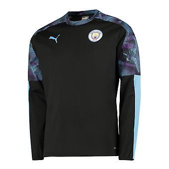 2019-2020 Manchester City Puma Training Rain Top (Black)