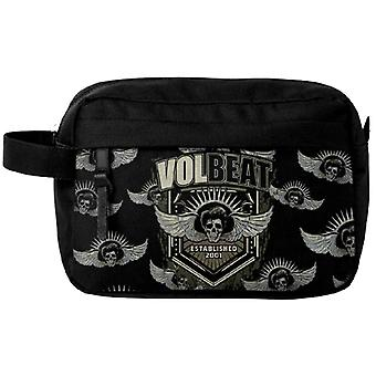 Volbeat Wash Bag Established All over Print Band Logo new Official Black