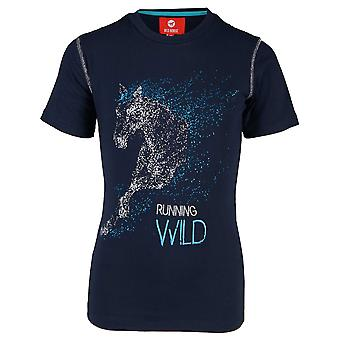 Horka Caliber Junior Childrens T-shirt-Night Blue