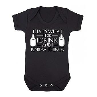 I drink and i know things short sleeve babygrow