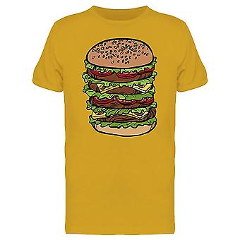 Big Burger Fast Food Tee Men's -Image by Shutterstock