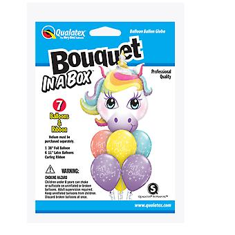 Party Supplies - Pioneer - 7 ct.Balloon Bouquet-in-a-Box Set - Birthday Unicorn 89060