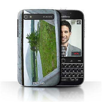 STUFF4 Case/Cover for Blackberry Classic/Q20/Fence/Lake/Scottish Landscape