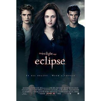 Twilight Eclipse Poster - (Robert Pattinson, Taylor Lautner) - Double Sided Regular Us One Sheet (2010) Original Cinema Poster