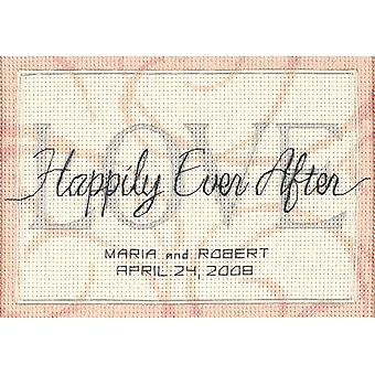 Happily Ever After Wedding Record Mini Counted Cross Stitch 7