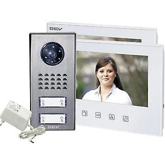 Video door intercom Corded Complete kit GEV 088351 Semi-detached White, Anthracite