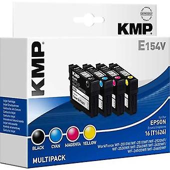 KMP Ink replaced Epson T1621, T1622, T1623, T1624, 16 Compatible Set Black, Cyan, Magenta, Yellow E154V 1621,4850