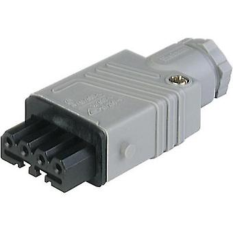 Mains connector ATT.LOV.SERIES_POWERCONNECTORS STAK Socket, straight Total number of pins: 4 + PE 10 A Grey Hirschmann