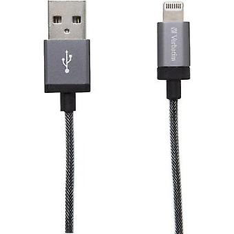 iPad/iPhone/iPod Data cable/Charger lead [1x USB 2.0 connector A - 1x Apple Dock lightning plug] 1.20 m Grey Verbatim