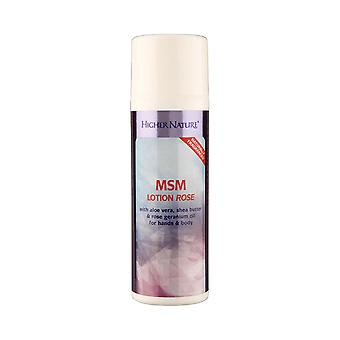 Higher Nature MSM Lotion Rose, 150ml