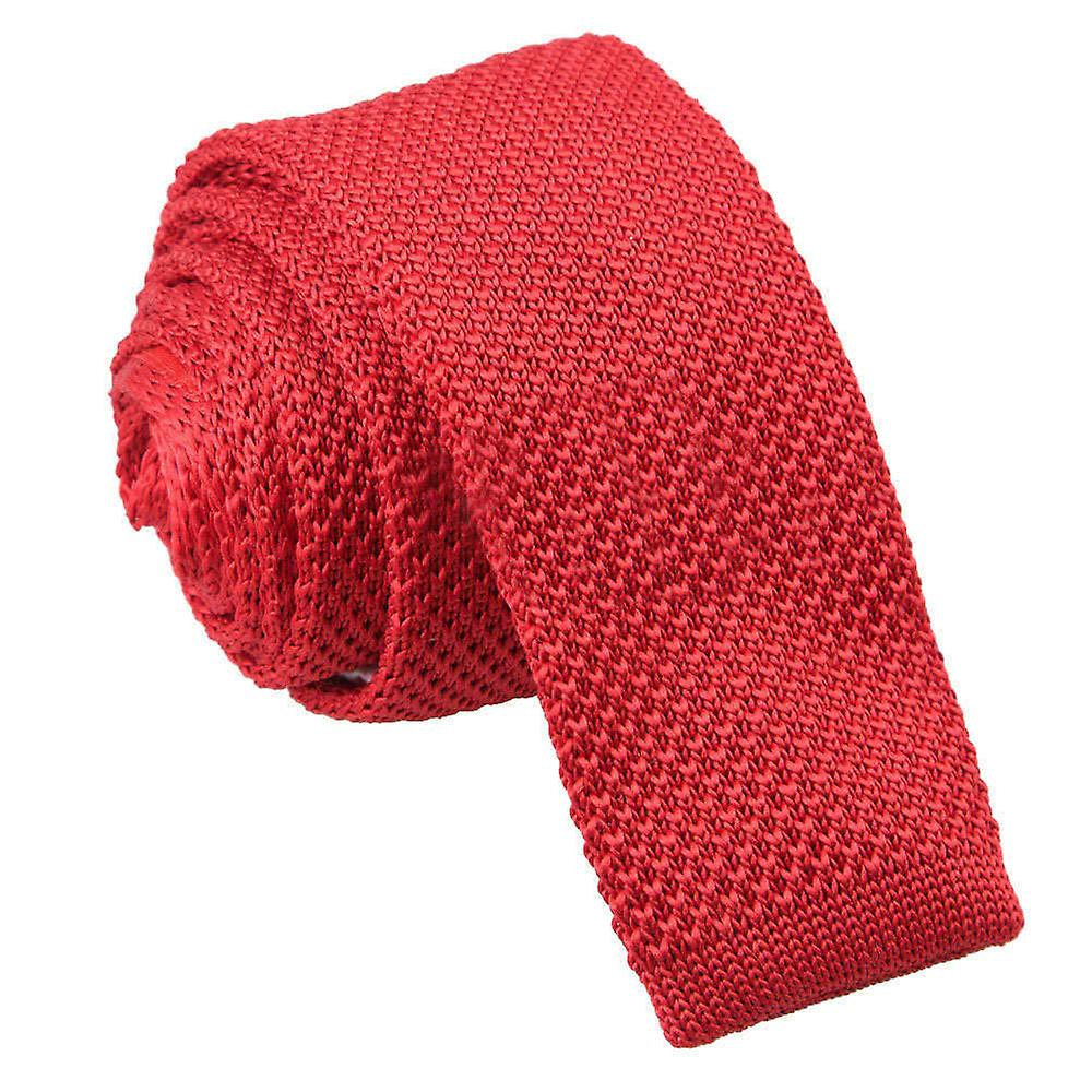 Knitted Crimson Red Tie