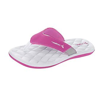 Coureur nuage Womens Tongs / sandales - rose blanche