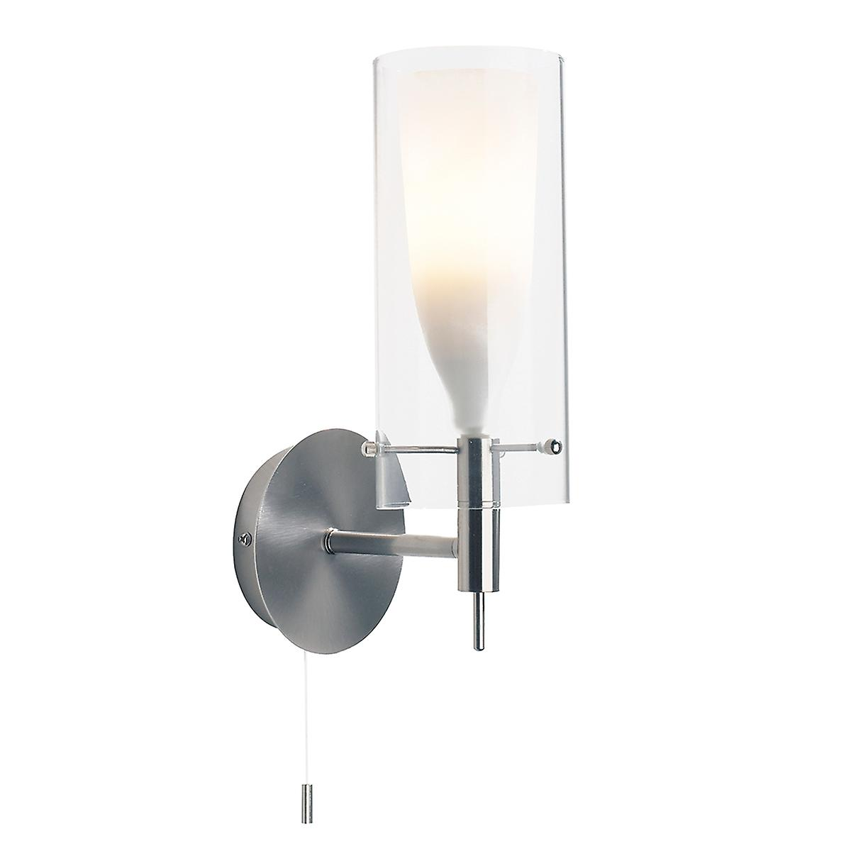 Dar BOD0746 Boda Modern Chrome Switched Wall Light With Double Glass