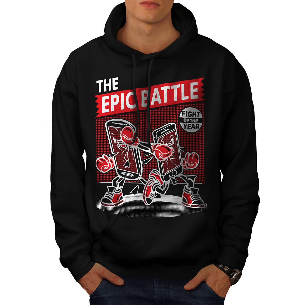 Epic Battle Phone Mobile Cell Men Black Hoodie | Wellcoda